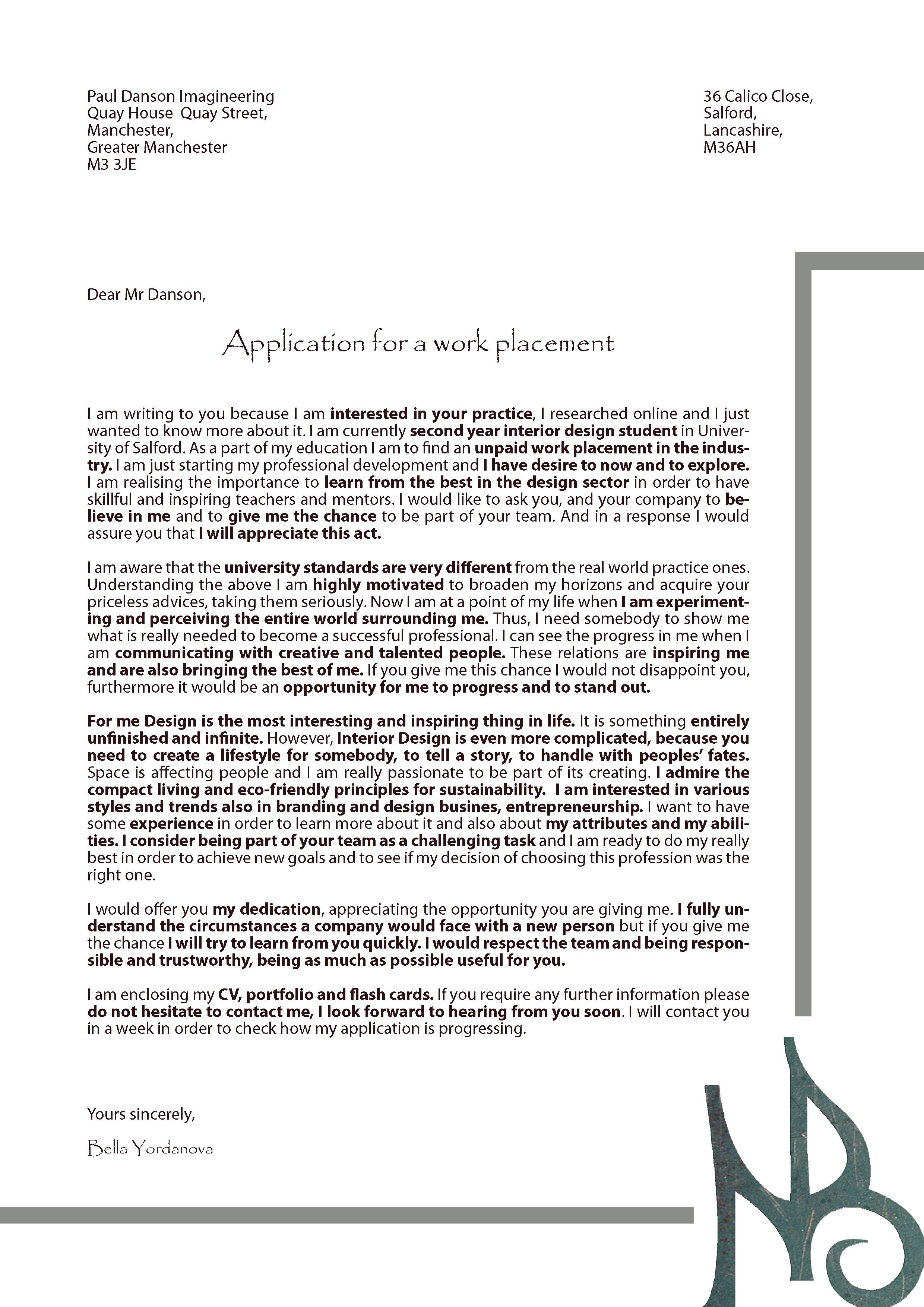 cover letter bella ny